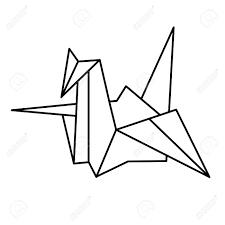 origami clipart japanese crane pencil and in color origami