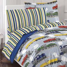 Childrens Bedroom Bedding Sets Amazon Com Dream Factory Trains Ultra Soft Microfiber Boys