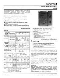 honeywell thermostats honeywell thermostat t6069 pdf user u0027s manual