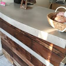 Concrete Reception Desk Buy A Made Reclaimed Wood And Concrete Reception Desk Made