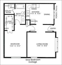 one bedroom cottage floor plans one bedroom house design free economizer house plan click to