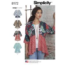 fabric patterns pattern 8172 misses u0027 fashion kimonos with length fabric and trim