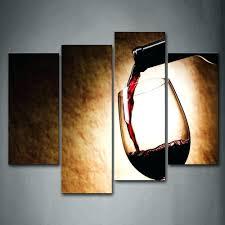 Wine Glass Wall Decor Wall Arts Hd Printed 3 Piece Canvas Vineyard Vines Red Wine