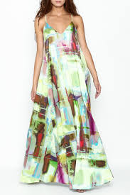 nicole miller watercolor print maxi dress from new hampshire by