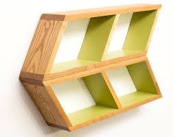 Floating Wooden Shelves by Geometric Wood Shelves Mid Century Modern Honeycomb Shelf