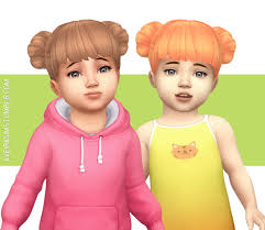 childs hairstyles sims 4 aveira s sims 4 magicalgirlsimmer s bun hair recolor 65 colors