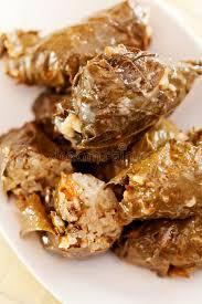cuisine bulgare cuisine bulgare feuilles de raisin bourré photo stock image