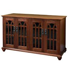 mission style corner tv cabinet leslie dame mission style 50 inch tv stand with glass inlaid mission
