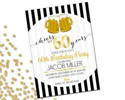 60 years birthday 60th birthday party invitation cheers to 60 years