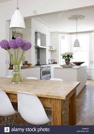 White House Dining Room by White Open Plan Dining Room And Kitchen Residential House Port
