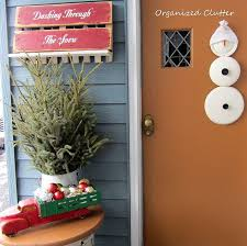 Christmas Decoration For Garage Door by A Junky Rustic Winter Christmas Front Porch Hometalk