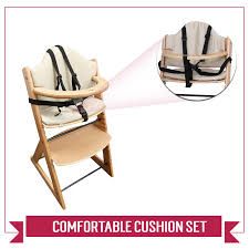 High Chair Baby Warehouse Wooden Baby High Chair 3in1 Highchair With Tray And Bar Beech