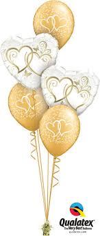 balloon bouquet golden hearts entwined balloon bouquet wham bam balloon