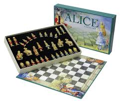 amazon chess set alice in wonderland chess set with board sac amazon co uk toys