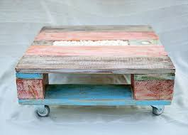 Wooden Pallet Coffee Table Diy Colorful Pallet Coffee Table