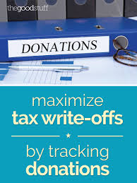 maximize tax write offs by tracking donations thegoodstuff