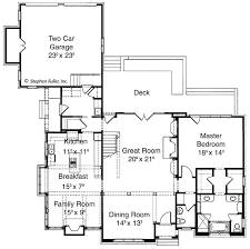 great room plans country style house plan 3 beds 2 5 baths 2680 sq ft plan 429