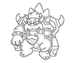 bowser mario coloring pages kids coloring