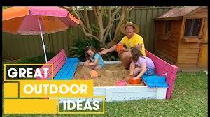 build your own diy sand pit seat outdoor great home ideas