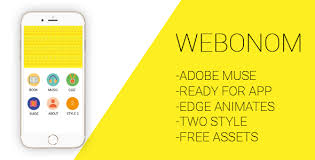 webonom adobe muse and html template for mobile apps by aultoon