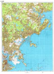Map Of Boston Ma Massachusetts Cold War Map Sheet 2 Of 4 By Ussr Ministry Of Defense