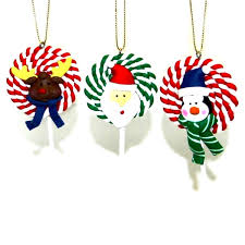 swirl lollipops clay tree ornaments handmade