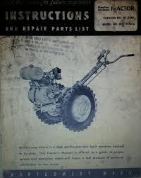 montgomery ward mid 5458 garden tractor owner engine service