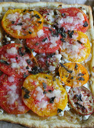 heirloom tomato and goat cheese tart fiercely fresh