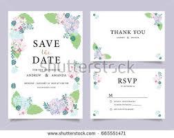 wedding invitation card template text stock vector 665551462