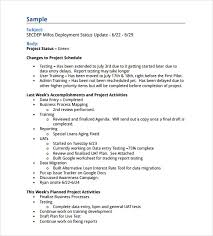 sample status report 7 example format
