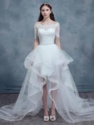 high low wedding dress with sleeves high low wedding dresses sassymyprom