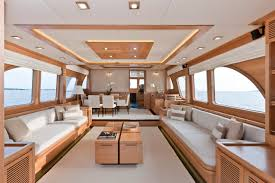 Boat Interiors Vicem  Cruiser Interior  Luxury Yacht Charter - Modern and simple interior design