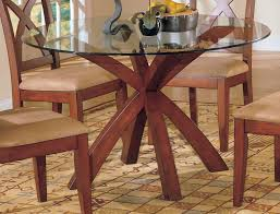 table round glass dining with metal base deck farmhouse