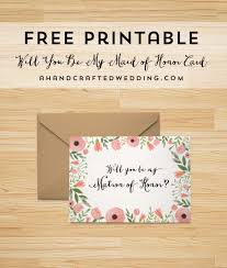 bridesmaid invitations free printable will you be my bridesmaid card mountain modern