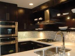 dark kitchen cabinets with backsplash contemporary pool painting