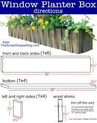 Patio Planter Box Plans by Window Flower Box Plans U Design Blog