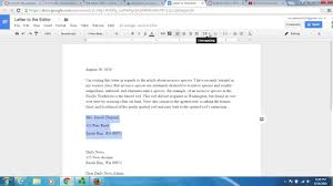What Is A Modified Block Style Letter by Block Letter Format Google Docs Youtube