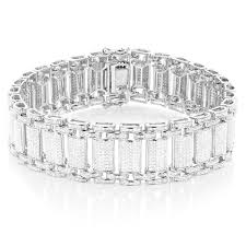bracelet diamond men images Shop luxurman sterling silver men 39 s 5ct tdw white diamond bracelet jpg