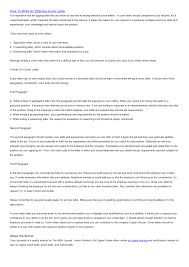 How To Write An It Cover Letter Pics Photos Cover Letters How To Write An Effective Cover Letter