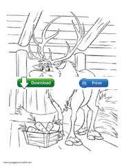 100 ideas frozen coloring pages sven emergingartspdx
