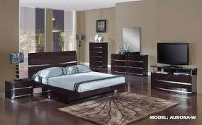 Wenge Bedroom Furniture Wenge Glossy Bedroom Set By Global Furniture