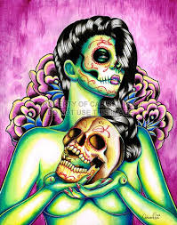dead pin up tattoos day of the dead pin up with sugar