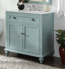 Beach Style Bathroom Vanity by Adelina 34 Inch Cottage Bathroom Vanity White Marble Top