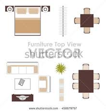 vector furniture icons top view bed stock vector 629756150