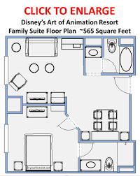 a family suite at art of animation or a deluxe room