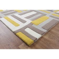 Modern Yellow Rug by Matrix Code U0026 Kaya Max17 Code Yellow Wool Rug Therugshopuk