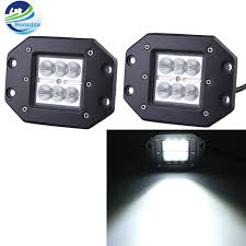 flush mount led lights 12v honzdd 2pcs 18w 4inch flush mount led work flood beam led daytime