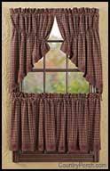 Prairie Curtains Victorian Heart Window Curtain Swags