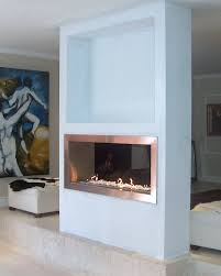 fireplace futuristic modern double sided fireplace home furniture