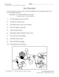 complete subject and predicate worksheet free worksheets library